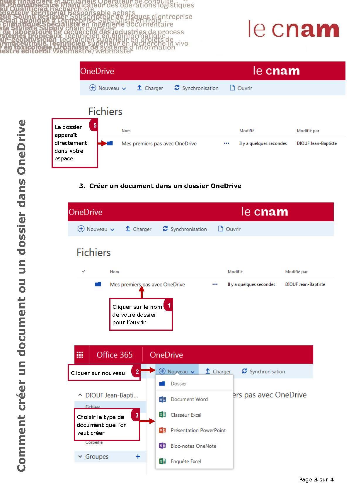 Comment créer un document ou un dossier dans Onedrive_Page_3