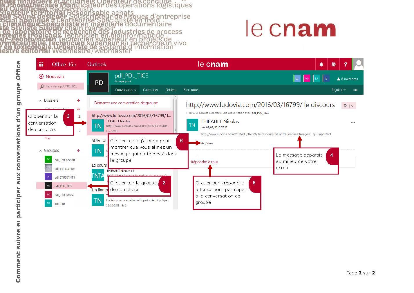 Comment suivre et participer aux conversations d'un groupe Office_Page_2