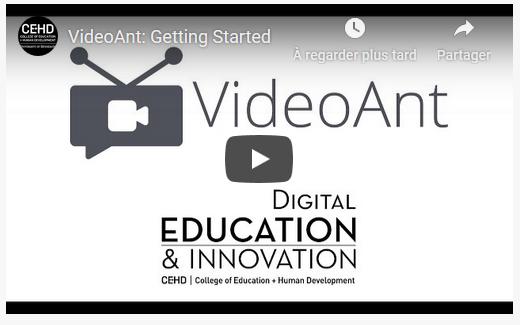 Rendre une vidéo plus apprenante avec VideoAnt